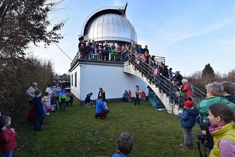 Raketenstart an der Sternwarte Aachen